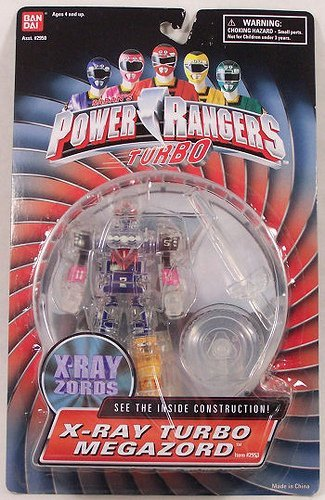 "Power Rangers Turbo 5 1/2"" X-Ray Turbo Megazord Zord ..."