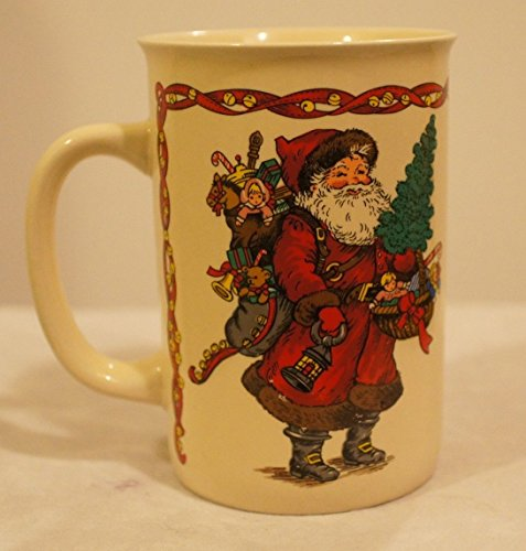 Potpourri Mug - 1991 Potpourri Press Mug (Kris Kringle with Toys & Christmas Tree)