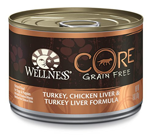 Wellness Core Natural Wet Grain Free Canned Dog Food, Turkey & Chicken, 6-Ounce Can (Pack Of 24)