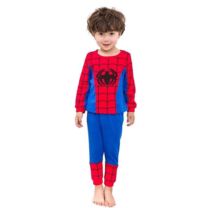 Pijamas Estampado De Dibujos Animados Pijamas Conjunto Ropa De Dormir Para Niños Camiseta De Manga Larga + Pantalones Ropa De Dormir Para Niños Algodón: ...