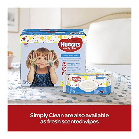 HUGGIES Simply Clean Fragrance Free Baby Wipes 9 Soft Packs 648 wipes total