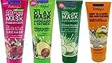 Clay Mask Freeman Freeman Facial Mask Bundle, 6 fl oz (Pack of 4) includes 1-Tube Sweet Tea & Lemon Peel-Away Clay Mask, Cucumber Facial Peel-off Mask, Avocado & Oatmeal Facial Clay Mask, Pomegranate Facial Mask