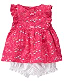 Gymboree Baby Toddler Girls' 2-Piece Bubble Play Set, Guava Bold, 6-12 Mo