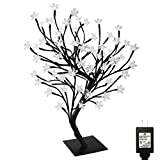 PMS Cherry Blossom Desk Top Bonsai Tree Light with Low Voltage Transformer, UL Listed, Ideal for Christmas, Party, Wedding, Ceremony, Celebration Decoration (90 LEDs, Day White)