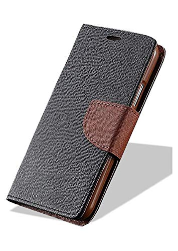 zelq silicone wallet case for motorola moto c plus  brown