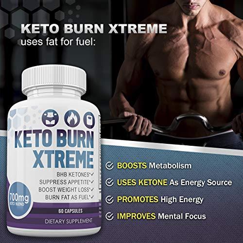 Keto Burn Xtreme - BHB Ketones - Suppress Appetite - Boost Weight Loss - Burn Fat As Fuel - 700mg Keto Blend - 30 Day Supply by Keto Burn Xtreme (Image #3)