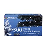The Christmas Workshop 500 LED Chaser String Lights, Bright White
