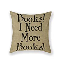 SIXSTARS Book Club Reading Group Reading Book Group Throw Pillow 18 X 18 Square Cotton Linen Pillowcase Cover Cushion