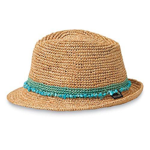 Wallaroo Hat Company Women's Tahiti Sun Hat - Fedora-Style Sun Hat, Turquoise