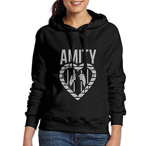 (Lennakay Woman's The Amity Affliction Sweater Shirt Black M)