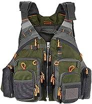Yaesport Fishing Life Vest Safety Jacket Boat Aid Sailing Kayak Fishing Life Jacket Vest for Adult Men and Wom