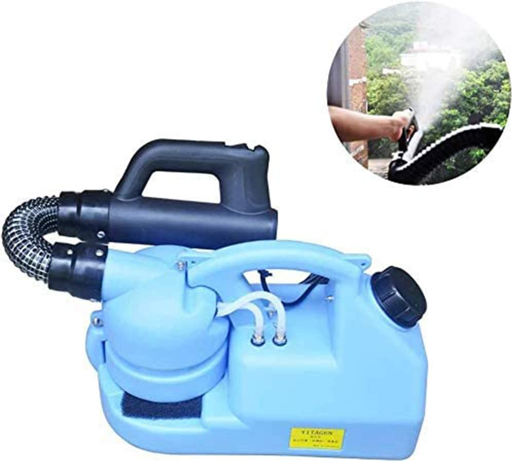 YLEI Sulfatadora Eléctrica, Nebulizador ULV Inteligente Pulverizador, Amplia Y Rápida Difusión, Flujo Ajustable, para 6-8 M Insecticida contra la epidemia del nebulizador esterilizador