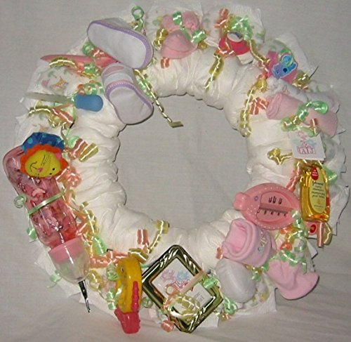Girl Baby Diaper Wreath