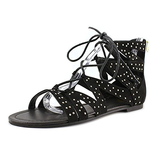 G by GUESS Womens Leidah Open Toe Casual Gladiator Sandals, Black, Size 5.0 (Guess Sandals Ankle Strap)