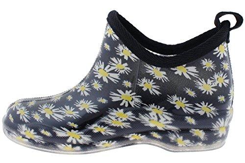 Capelli New York Ladies Jardin Imprimé Slip Sur Les Bottes De Pluie Noir Floral