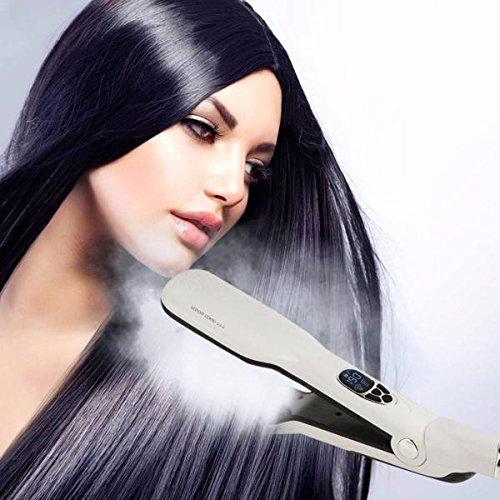 ININDIA Infrared Unisex Steam Hair Brush Straightener Royal Black Hair Steam Hair Care And Nourish m( SOOTHING WHITE)