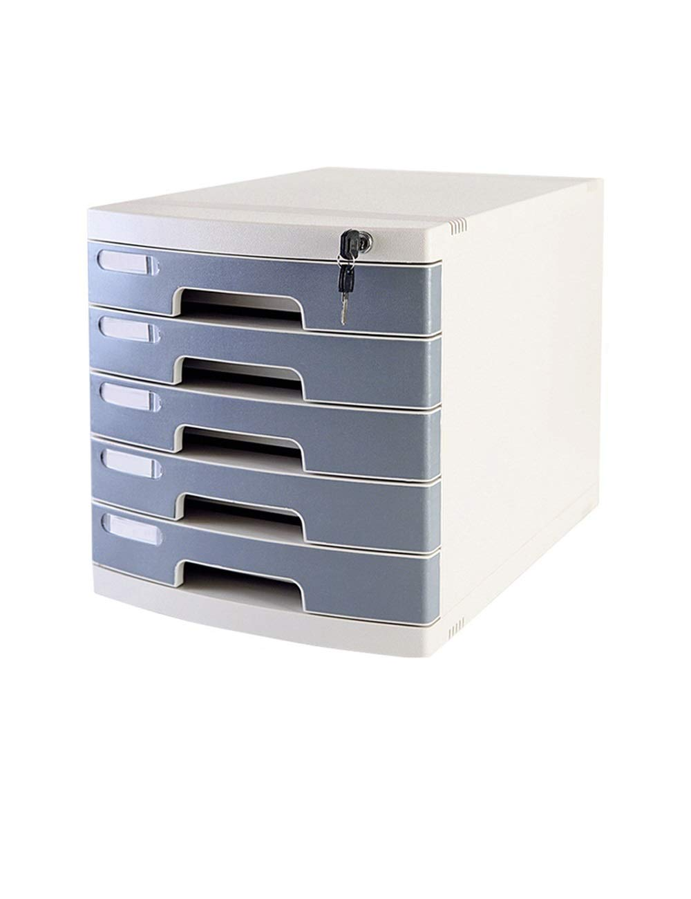 File Cabinet Office Desktop Drawer Type Stationery Cabinet 5th Floor A4 Plastic Data Cabinet Storage Box Storage with Lock Filing cabinets (Color : B)