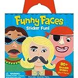 Peaceable Kingdom Sticker Fun Funny Faces Reusable Sticker Tote