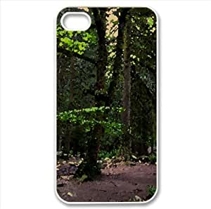 Woods In Vancouver Watercolor style Cover iPhone 4 and 4S Case (Forests Watercolor style Cover iPhone 4 and 4S Case)