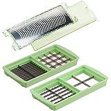 Genius Nicer Dicer Magic Cube Kombi-Set | 3 Teile | Messereinsätze | Reibe | Bekannt aus TV | NEU