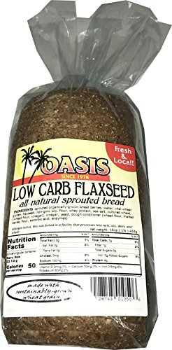 Oasis Flaxseed Bread Low Carb All Natural Sprouted