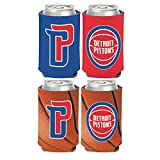 WinCraft NBA Detroit Pistons 2 PACK 12 oz. 2-Sided Can Coolers