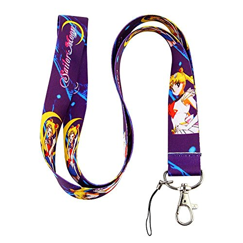 - Sailor Moon Purple Lanyard Key Chain ID Holder