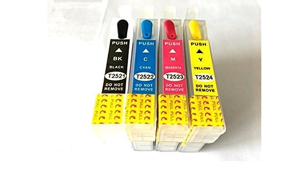 Sustitución del cartucho de tinta vacíos y rellenables para 252 ...