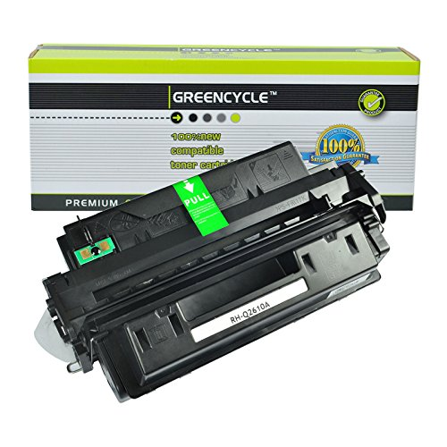 GREENCYCLE Toner Cartridge Replacement For HP Q2610A 10A High Yield 6,000 Pages Compatible For HP LaserJet 2300 2300d 2300dn 2300dtn 2300L 2300n (1 Black) 2300 Series 6000 Page Yield
