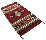 Onyx Arrow Southwest Décor Area Rug, 32 x 64 Inches, Center Diamond Dark Red/Multi