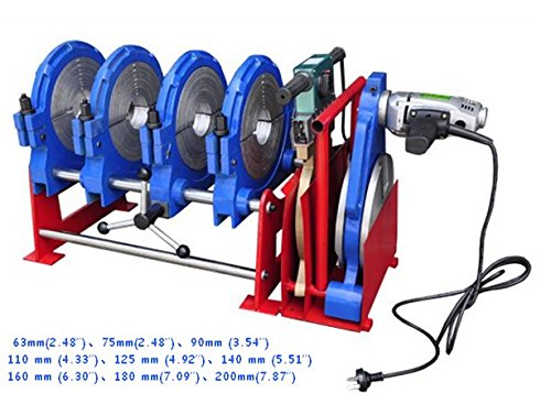 110V four clamps manual PEPPPBPVDFHDPE Pipe Butt Fusion Welding Machine Welder