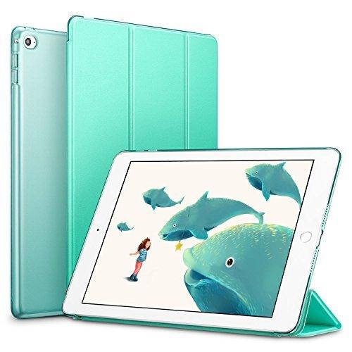 ESR iPad Mini 4 Case, iPad Mini 4 Smart Cover, PU Leather Stand Case with Auto Sleep/Wake Function and Translucent Back Compatible for Apple iPad Mini 4 (2015 Release)_Mint - Ipad Mini Apple Green Smart Cover