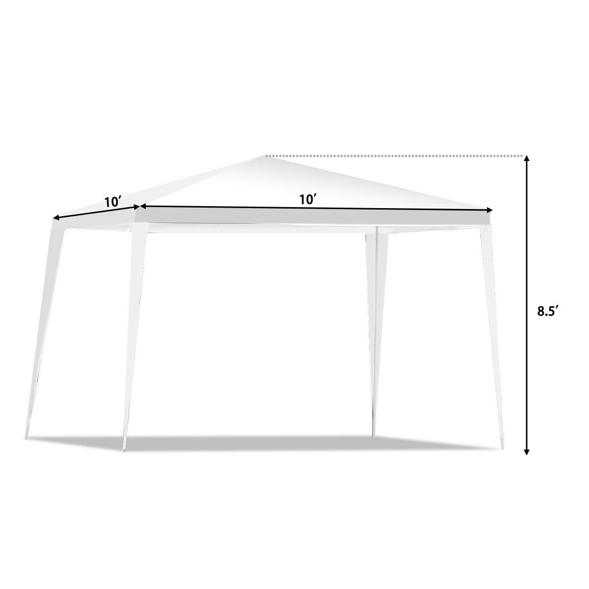 zwan 10 x 10 Outdoor Canopy Party Wedding Tent with Ebook