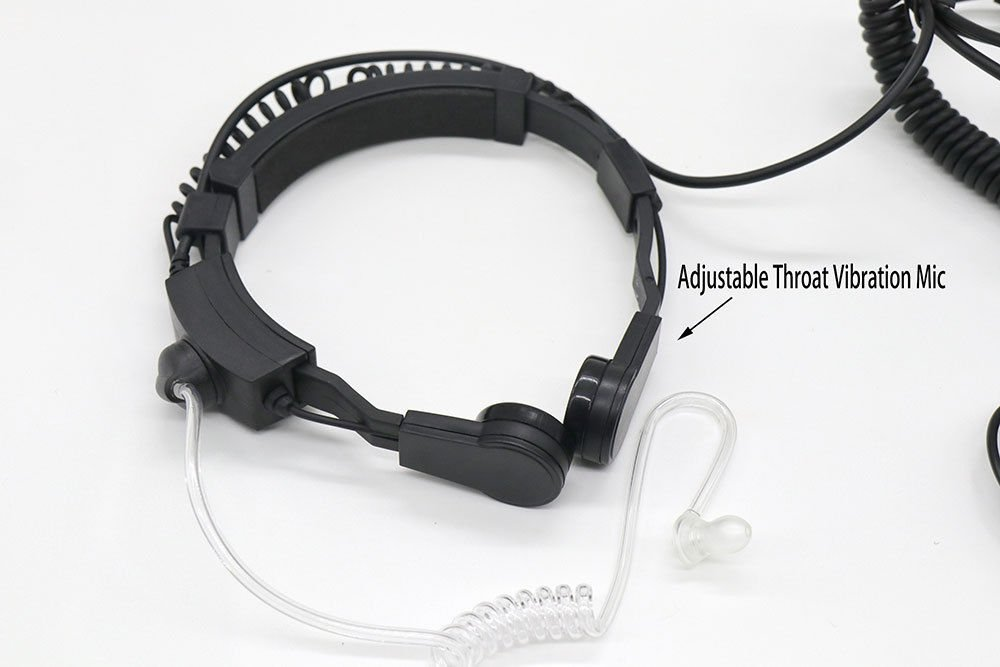 3 IN 1 Adjustable Throat Vibration Mic For Motorola Radio APX7000 DP3601 VOX PTT