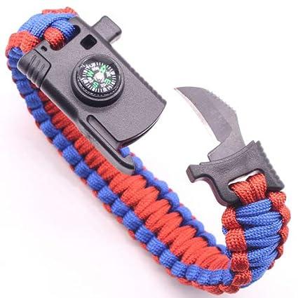 Multi-function Paracord Survival Bracelet Outdoor Rescue Emergency Rope Bracelet