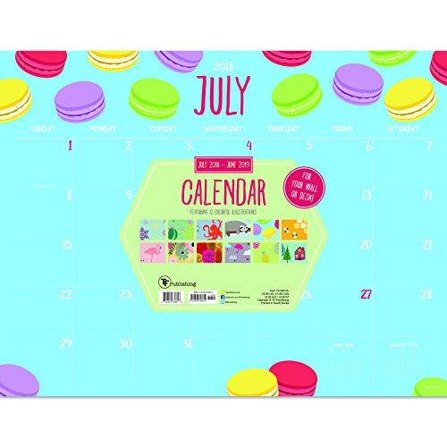 Monthly Theme Desk Pad Blotter 2019 Calendar: July 2018 - June 2019 (Academic Year)
