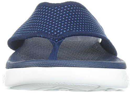 a Skechers On Uomo Aperta Navy Blu 600 Punta Sandali Go The qaPwagX