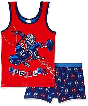 Rio Kids Spider Man Singlet & Trunk Set, Spider Man, 3/4
