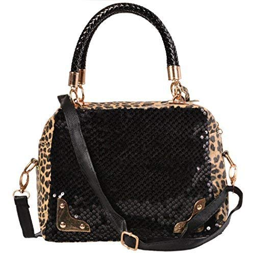 Handbag Tote Shoulder Ardisle Leather Style Designer Leopard Black Bag ladies Womens XqqOTZv