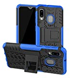 Yiakeng Galaxy A10E Case, Galaxy A20E Case, Shockproof Slim Protective with Kickstand Hard Phone Cover for Samsung Galaxy A10E/A20E (Blue)
