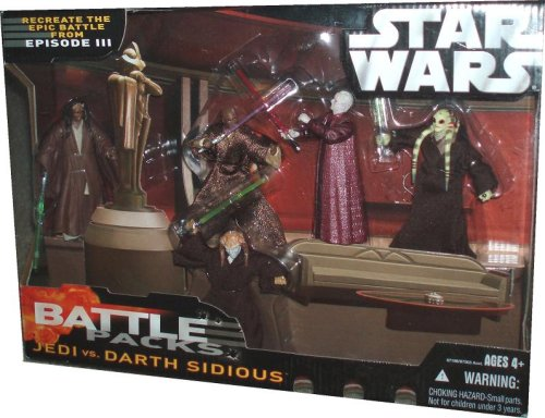 Star Wars Battle Pack: Jedi vs Darth Sidious (Palpatine Darth Sidious)