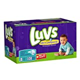Health & Personal Care : Luvs With Ultra Leakguards Big Pack Size 2 Diapers 108 Count by Luvs