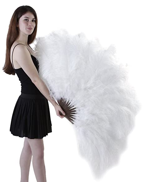 1920s Swimsuits- Women & Mens- History, Sew and Shop Zucker Feather (TM) - Ostrich Prime Femina Feather Fan - White $199.99 AT vintagedancer.com