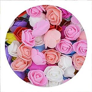 pleasantlyday 50Pcs/lot 3.5cm Mini PE Foam Rose Flower Head Artificial Flowers for Home DIY 69