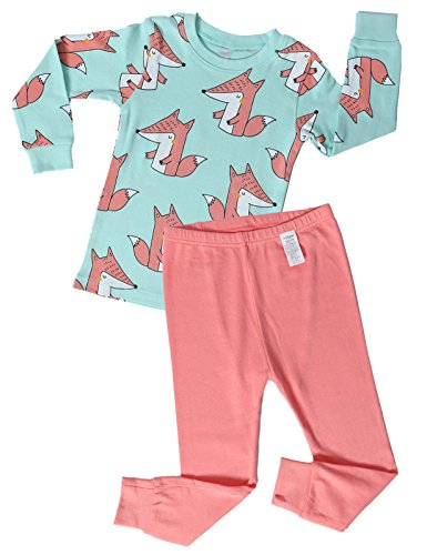 unifriend-premium-little-boys-girls-2-piece-pajama-setfox-patterned-us-78y-asia-140-kgsr020