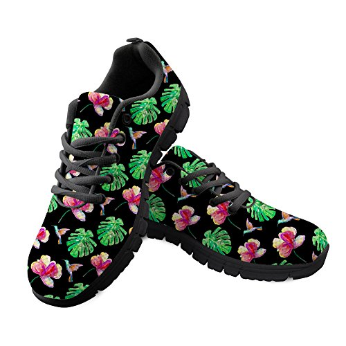 Floral for Durable Spring Flats Easy Women Walking Coloranimal Sneakers Summer Go vqYC4Cw
