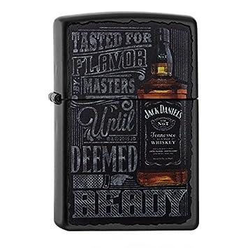 Zippo 60.002.093 Mechero Jack Daniels Collection Spring 2016, Negro Mate