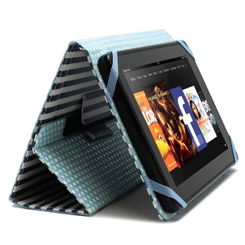 GreatShield Youth Series Folio Stand Case with Black & Wh...
