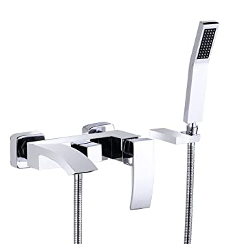 Jinyuze Modern Brass Waterfall Wall Mount Bath Tub Filler Faucet