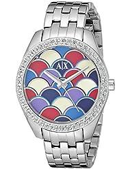 Armani Exchange Womens AX5526 Analog Display Analog Quartz Silver Watch